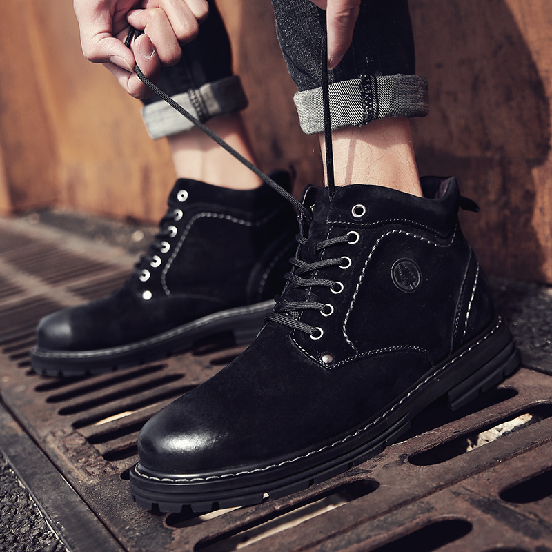 2020 г., лидер продаж, зимние ботинки martin шерстяные вязаные кожаные мотоботы в стиле пэчворк дизайнерская обувь женские ботинки на платформе - 5