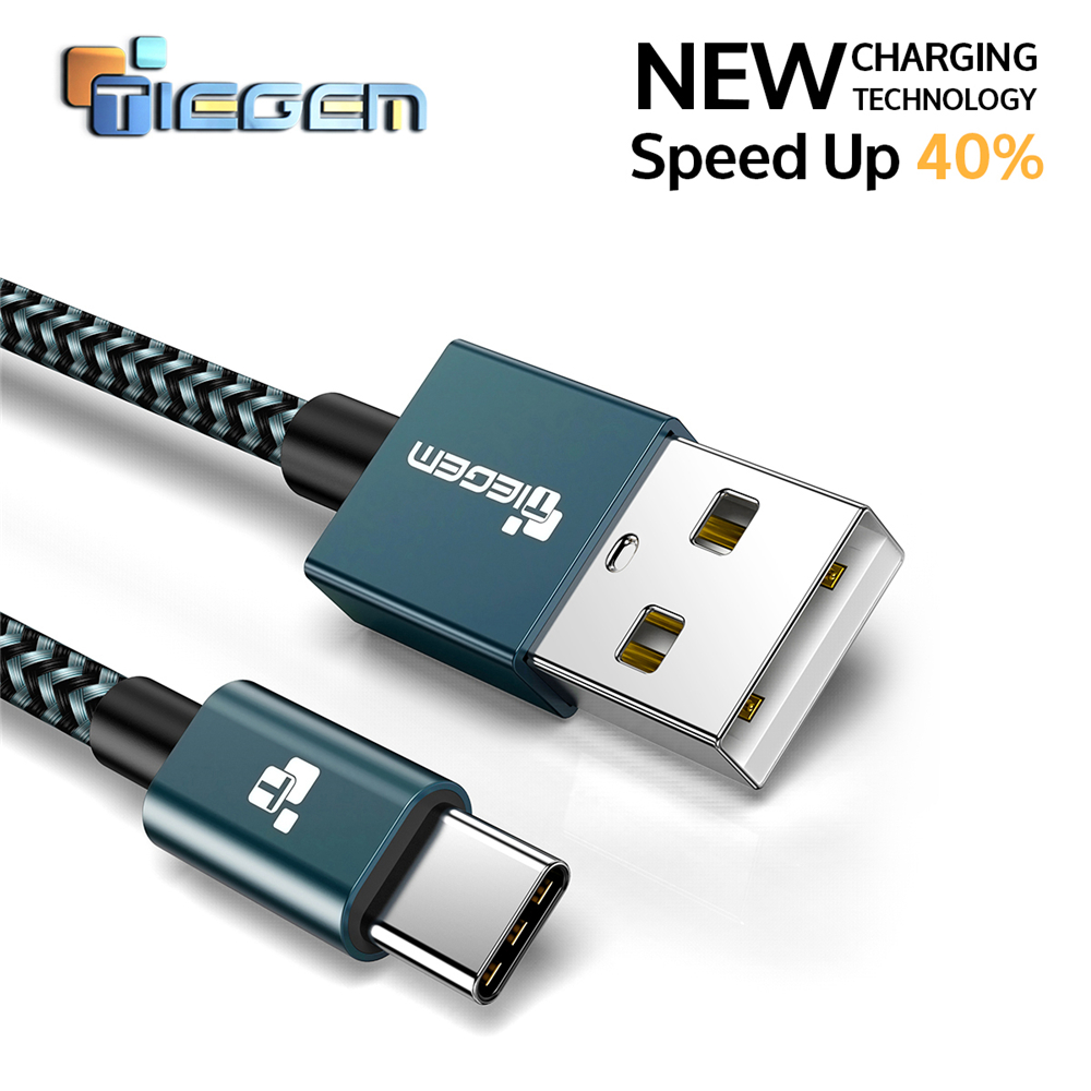 Tiegem USB Type C Cable Fast Charging 2A USB 3.1 USB C cable Data Cable USB Type-C charge cable for Samsung S8 Xiaomi Huawei LG