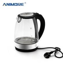 ANIMORE 2L Glas Wasserkocher Automatisch aus Edelstahl Anti heiße Elektrische Wasserkocher Haushalt Küchengeräte EK 02