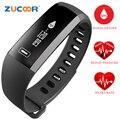 Pulsera inteligente Wristband Del Reloj Del Ritmo Cardíaco de La Presión Arterial de Oxígeno Oxímetro Bluetooth Banda de la Actividad Deportiva Para iOS Android Hombres Mujeres