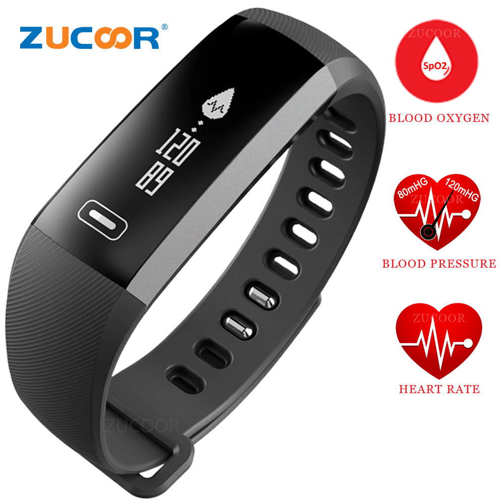 Smart Bracelet Watch Wristband Heart Rate Blood Pressure Oxygen Oximeter Bluetooth Band Sport Activity For iOS