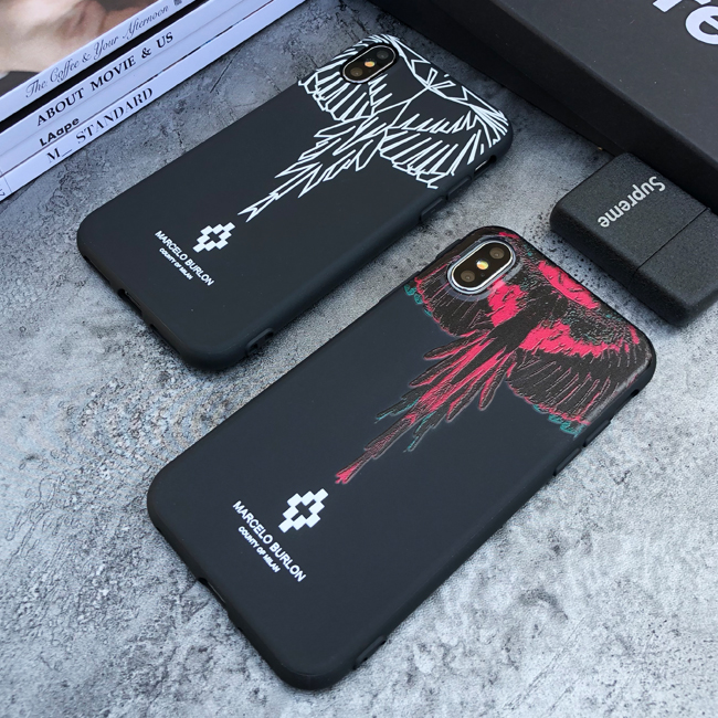 2019 New Style Luxury Italy Marcelo Burlon Case For Iphone X Xs Max Xr 10 8 7 6 6s Plus Matte Soft Silicone Phone Cover Coque Fundas Capa
