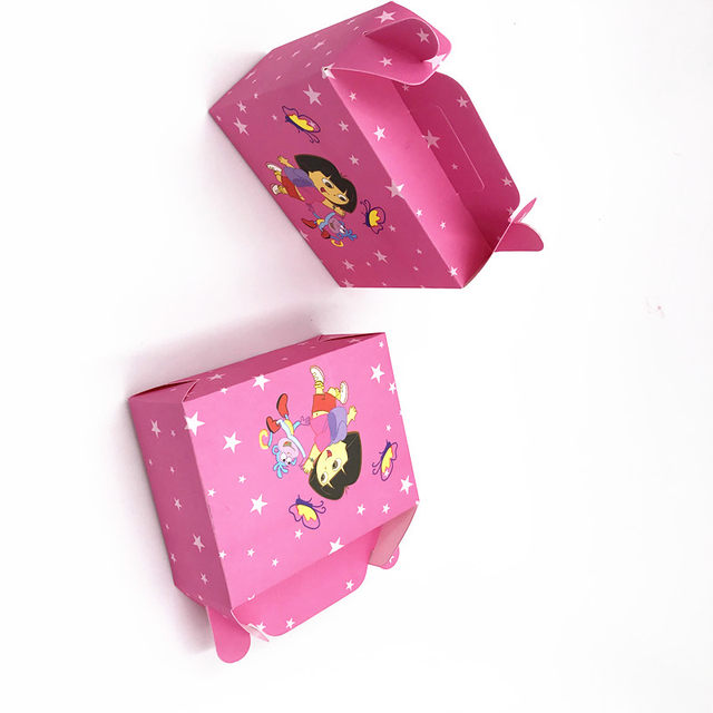 Online Shop 6pcslot Dora Candy Boxes Baby Shower Dora Theme Hand