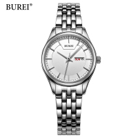 BUREI Fashion White Women Watches 2018 High Quality Ultra Thin Quartz Watch Woman Elegant Dress Ladies