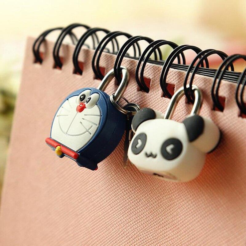 1X милый мультфильм Kawaii животные багажная сумка металлический замок журнал дневник пароль Блокировка файл держатель канцелярские принадлежности