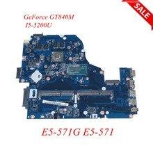 NOKOTION A5WAH LA B991P NBMLC11007 NB. MLC11.007 laptop moederbord voor Acer aspire E5 571 GeForce GT840M I5 5200U Main board