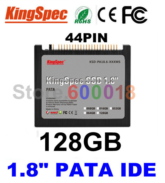 L Kingspec 1.8 inch PATA IDE 44PIN Solid State Disk ssd 128GB Internal Hard Drive Laptop For IBM X40 X41 X41T ,CE ROHS FCC