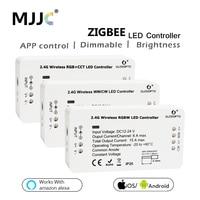 Zigbee LED Controller RGB CCT WW CW LED Dimmer DC 12 v 24 v LED Streifen Controller ZLL APP Gesteuert LED RGBW Smart Home RGB