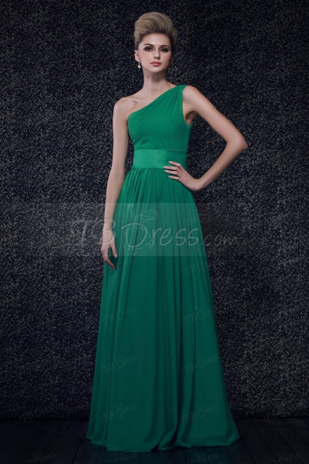 2015 sweetheart pleats a line one shoulder floor length chiffon 2015 sweetheart pleats a line one shoulder floor length chiffon emerald green bridesmaid dress long wedding party dress zh856 in bridesmaid dresses from ombrellifo Choice Image