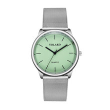 Crystal Analog Quartz WristwatchesFashion Simple Fresh Silver Mesh Belt Quartz clock Women Bracelet Watches Reloj Mujer #W3(China)