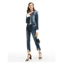 Steelsir 2018 nueva venta caliente azul Flare ligero Vaqueros Pantalones  para mujeres Calf-longitud pantalones de cintura alta P.. ca47552ff30