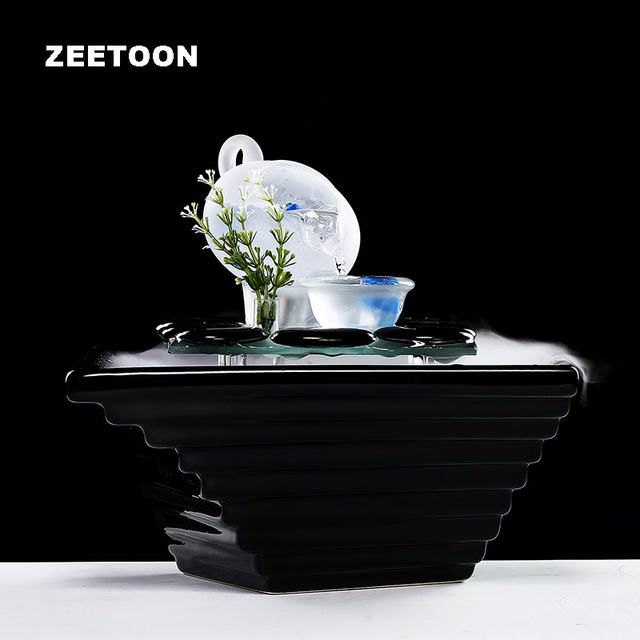 110V   240V Table Water Fountain Air Humidifier SPA Aromatherapy Atomizer  Essential Oil Diffuser Creative Cobblestone