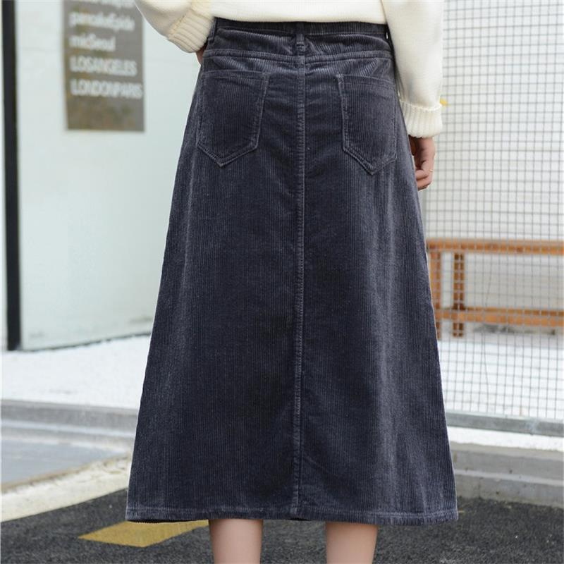 Image 3 - Free Shipping 2019 New Spring Autumn Womens Corduroy Skirt Girls