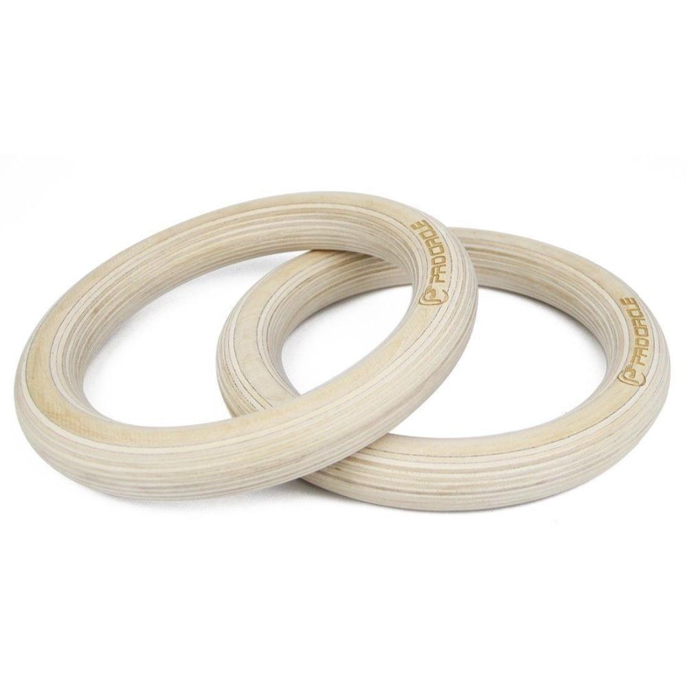 Anneaux de gymnastique en bois Procircle anneaux de gymnastique 28/32mm avec longues boucles réglables sangles d'entraînement pour la gymnastique à domicile et la remise en forme croisée - 2