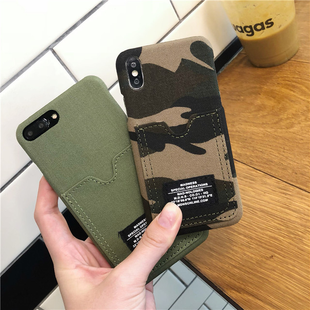 Hot Limited 2019 Edition Camouflage Phone Case With Card Holder For iPhone 3