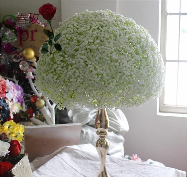 Spr free shippingbabysbreath wedding road lead artificial flower babysbreath wedding road lead artificial flower ball wedding table flowers centerpiece mightylinksfo