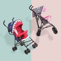 Baby stroller summer ultra light portable can sit semi lying umbrella car child stroller folding simple baby stroller