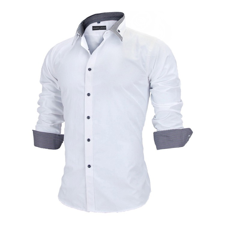 HTB12LhaKVXXXXaqXFXXq6xXFXXXT - New Arrivals Slim Fit Male Shirt Solid Long Sleeve British Style Cotton Men's Shirt N332