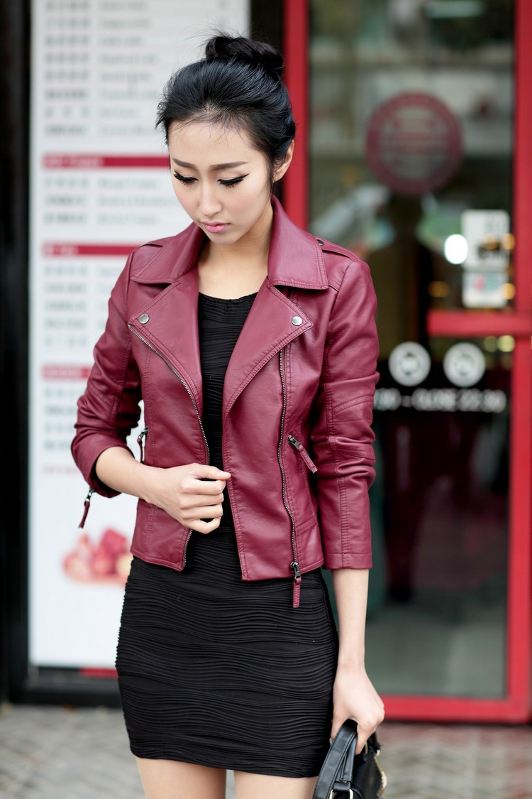 Aliexpress.com : Buy NEW female winter womens black leather jacket