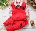 BibiCola весна осень мальчики одежда наборы детская одежда толстовка хлопок полный рукав футболки + брюки красный цвет 2-5Y