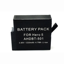 1220mAh Li-ion Battery BT-501 For Gopro Go Pro Hero 5 AHDBT-501 Sport Action Camera Replacement Rechargeable Bateria Batteria