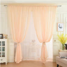 New European and American Style Curtains for Living Room Bedroom Kitchen Window Screening Solid Door Drape Panel Sheer
