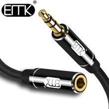 EMK Jack 3.5 mm Audio Extension Cable for Huawei P20 lite Stereo 3.5mm Aux Headphones Xiaomi Redmi 5 plus PC