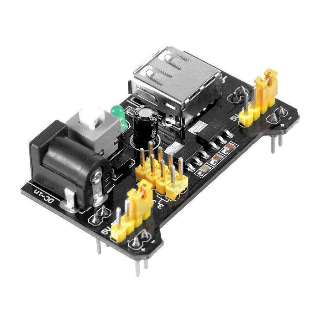 10 Pcs/lot MB102 MB-102 Solderless Breadboard Power Supply Module 3.3V 5V for Arduino UNO R3 2560 Board Kit Free shipping