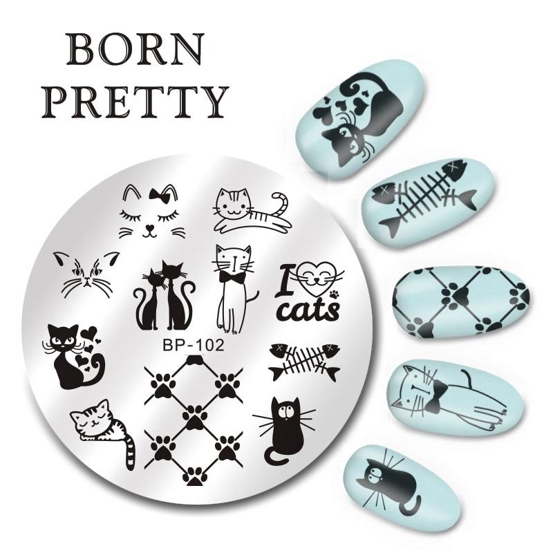 Geometric Reverse Stamping Nail Art Born Pretty Review: BORN PRETTY 5.5cm Round Nail Art Stamp Stamping Plates