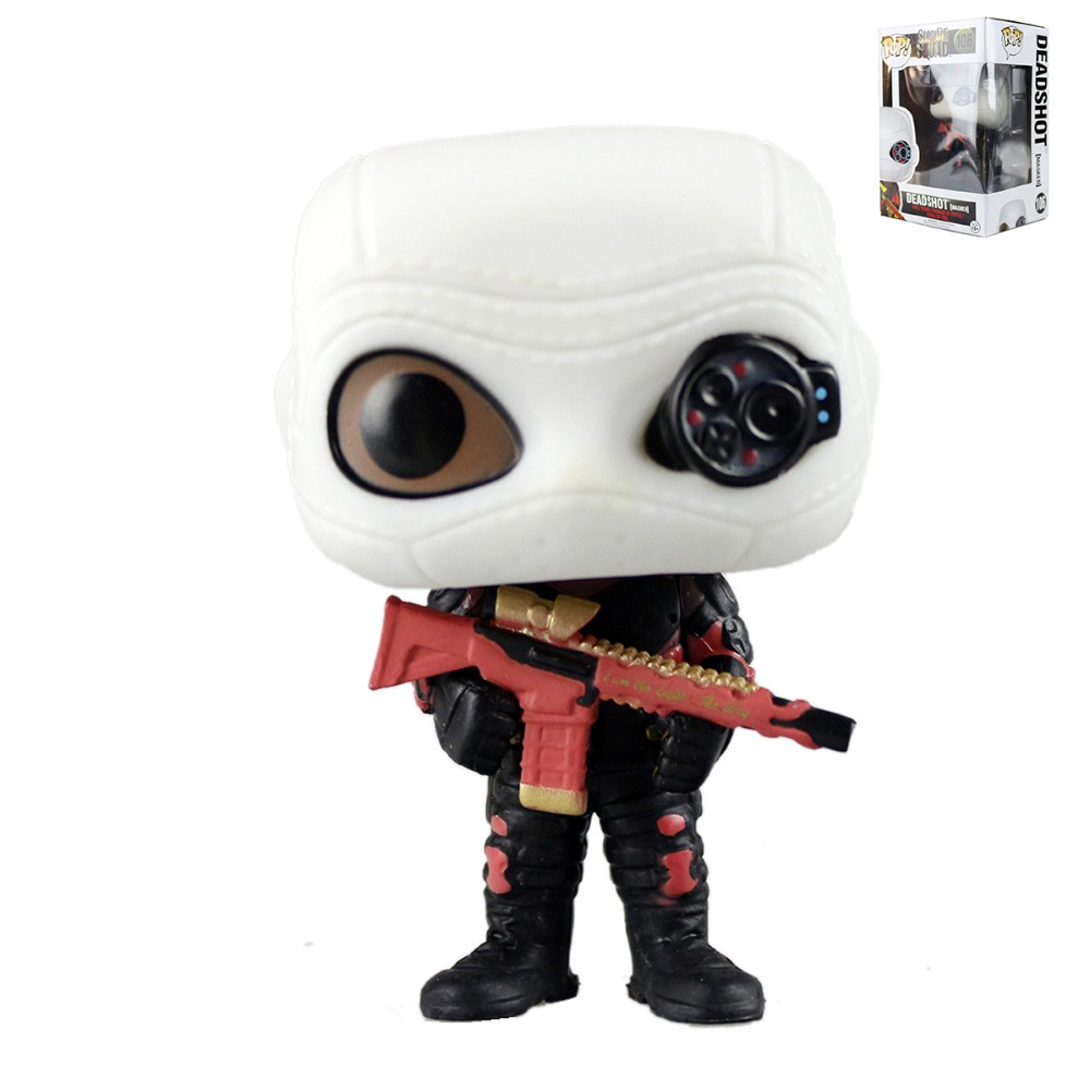 <font><b>Funko</b></font> <font><b>Pop</b></font> <font><b>Movies</b></font> Heroes <font><b>Suicide</b></font> <font><b>Squad</b></font> Deadshot #106 <font><b>Vinyl</b></font> <font><b>Action</b></font> <font><b>Figure</b></font> 9cm YTPOP60