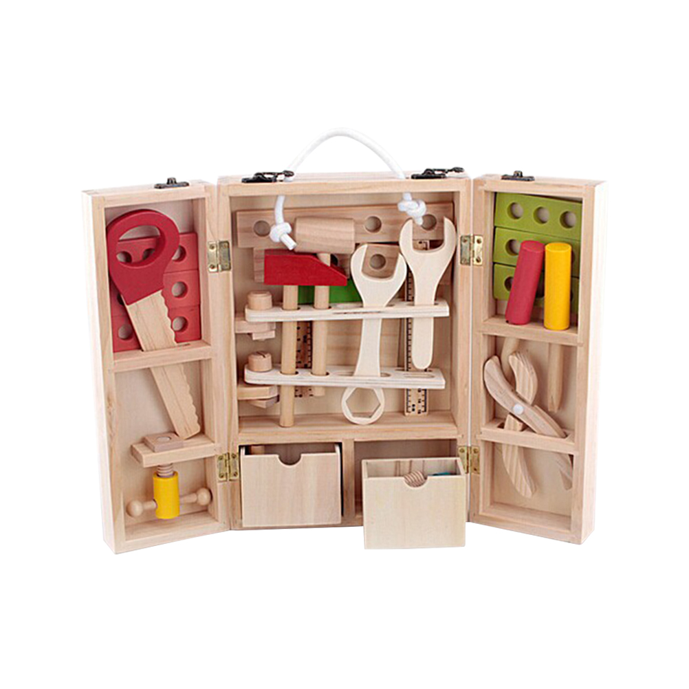 di legno di simulazione cassetta degli attrezzi set giocattoli
