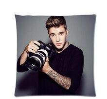 """Justin Bieber personalizado 02 Estilo Manera de la Alta Calidad Durable Suitbale Individual Funda de almohada Tamaño Estándar 18 """"x 18"""" (gemelas Sides) U05-05"""