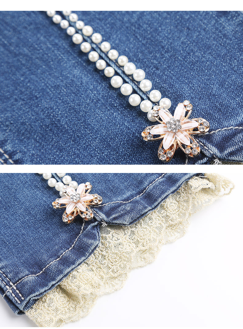 KSTUN FERZIGE Women's Jeans 2020 High Waist Straight Slim Fit Stretch Lace Designer Hand Beads Sexy Ladies Trousers Denim Pants Femme 19