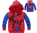 2016 New Children Hoodies Spring Autumn Boy's Sweatshirt Spider-man Coat Kids Long Sleeve Outerwear Boys Clothing for 2-9Years