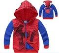 2016 New Children Hoodies Spring Autumn Boy's Sweatshirt Spider-man Coat Kids Long Sleeve Outerwear Boys Clothing for 2-9Years