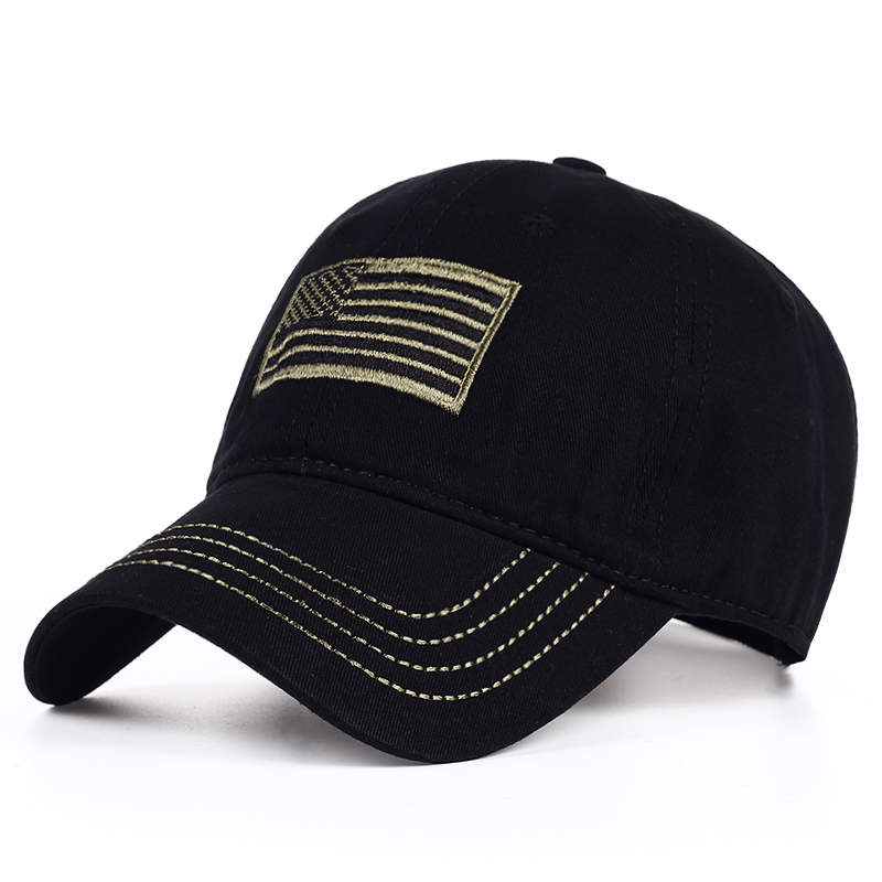 2017 new Cotton washed American Flag embroidery baseball cap men women outdoor snapback hats truck driver cap 3color men fish patern outdoor washed cotton baseball caps