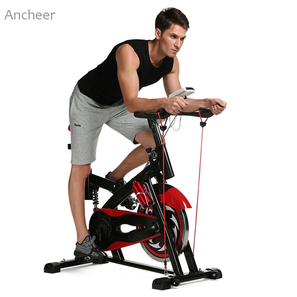ANCHEER Indoor LCD Monitor Bike Stationary Bicycle Health Fitness Training Gym Equipment