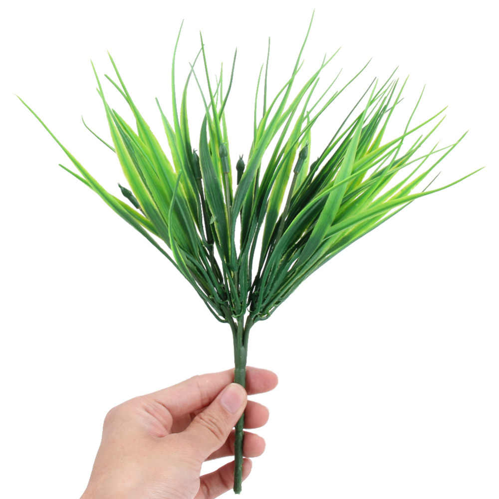 10 أجزاء البلاستيك 7 شوكة الربيع العشب الأخضر الاصطناعي النباتات ل محاكاة الزهور المنزل فندق مخزن دست ديكور الزخرفية t50