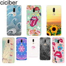 ciciber Sunflower Lips Phone Case For Oneplus 7 Pro 6 5 T Soft TPU Back Cover Clear Coque for 1+7 Pro 1+ 6 1+5 T Fundas Shell