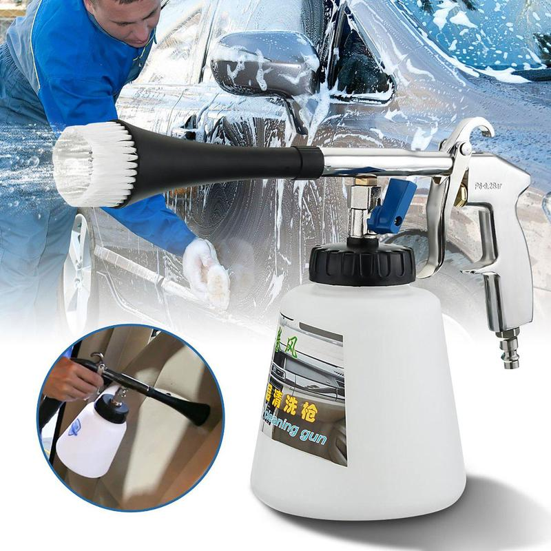 Car cleaning gun high pressure air pulse surface interior exterior cleaner high pressure air pulse car cleaning gun with brush multifunctional surface interior exterior cleaning kit eu type fast cleaning