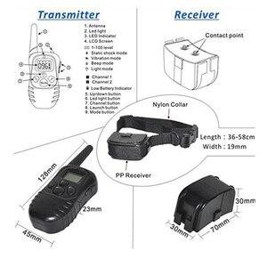 Image 4 - 300 メートルリモート充電式と防水電子犬の訓練の襟ペット犬ストップための Lcd ディスプレイと吠える首輪 998DR