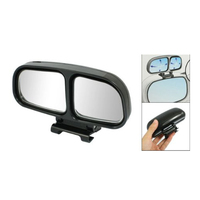 10X Left Side Rear View Blind Spot Auxiliary Mirror Black for Truck Car