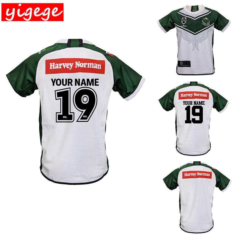 eb1d8ffb8a35 Индивидуальные имена и numbers 2019 Новой Зеландии маори все звезды майки  для регби рубашка nrl Джерси маори киви рубашки больших размеров 5xl