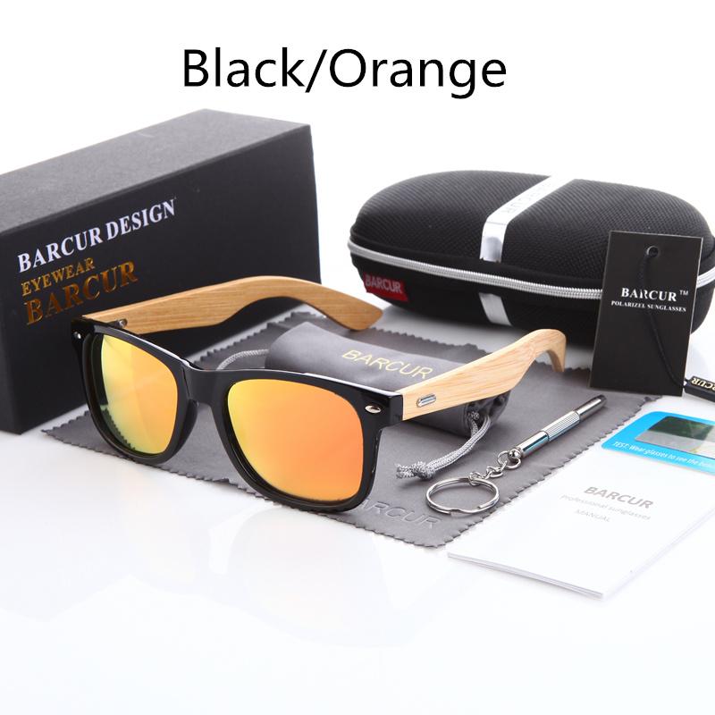 نظارة شمسية للرجال وللسيدات بعدسات بلورايزد واطار خشبي 5