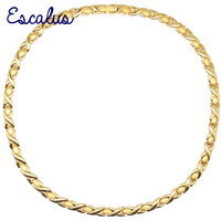 Escalus Cross Women's 31pcs Magnets Magnetic Stainless Steel Necklace Gold Color Charm Bio Jewelry Necklace For Women Jewelry