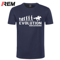 REM Personalized T Shirt Custom T Shirt Broadcloth Evolution Horse Riding Horses Equestrian Fun O Neck