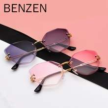 BENZEN Rimless Women Sunglasses Fashion Lady Sun glasses Vin