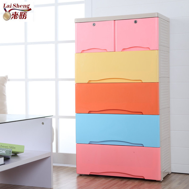 To win Ortega thick plastic drawer storage cabinets lockers finishing cabinet baby wardrobe chest of drawers & To win Ortega thick plastic drawer storage cabinets lockers ...