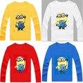 Mi villano favorito de Manga Larga t shirt Niños Minions Niños Ropa Camisetas Para Los Muchachos de las camisetas camisas de Los Niños Del Bebé de Los Niños ropa