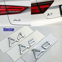 Factory Supply ABS Original Quaity Sline car rear decoration emblem sticker for Audi A3 A4 A5 A6 A7 A8 S1 S3 S4 S5 S6 S7(China)